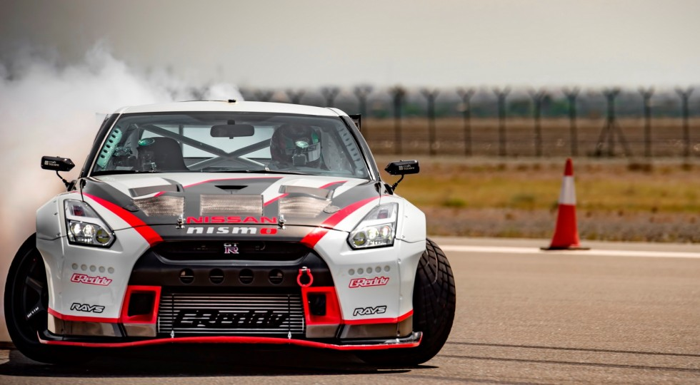 Nissan GT-R derrape