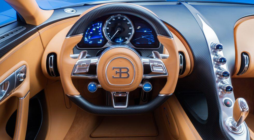 Bugatti Chiron salpicadero