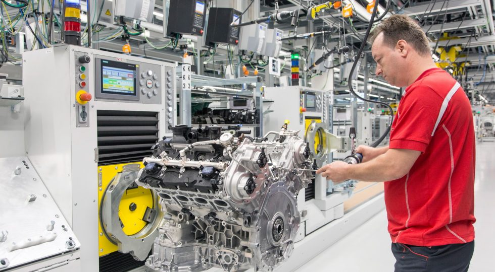 Fábrica motores V8 Posche