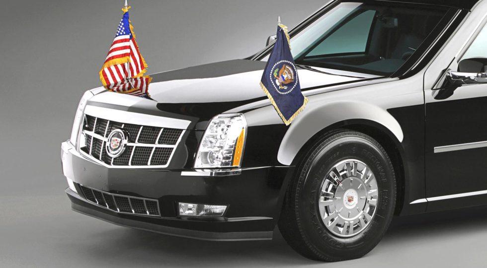 Neumáticos de camión para el coche de Barack Obama