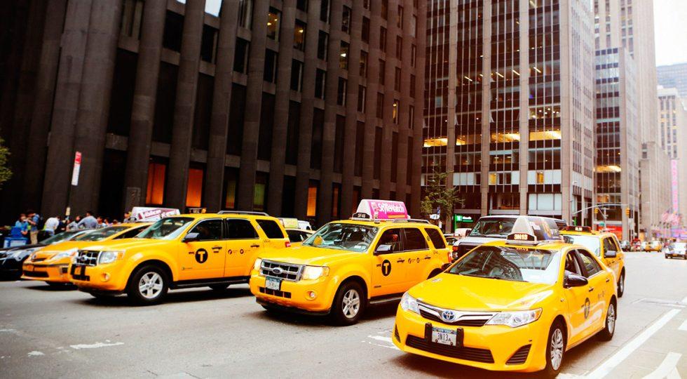 Taxis de Nueva York.