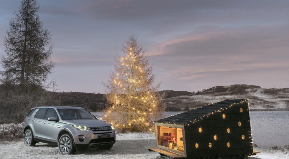 Cabaña de madera Land Rover