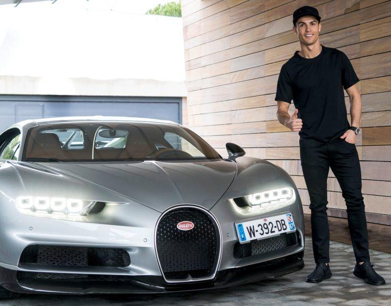 Cristiano Ronaldo ya conduce su Bugatti Chiron