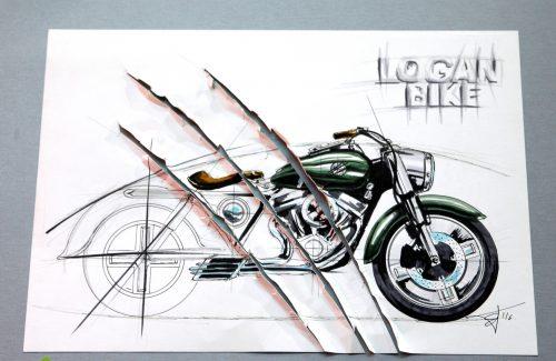 La moto de Logan