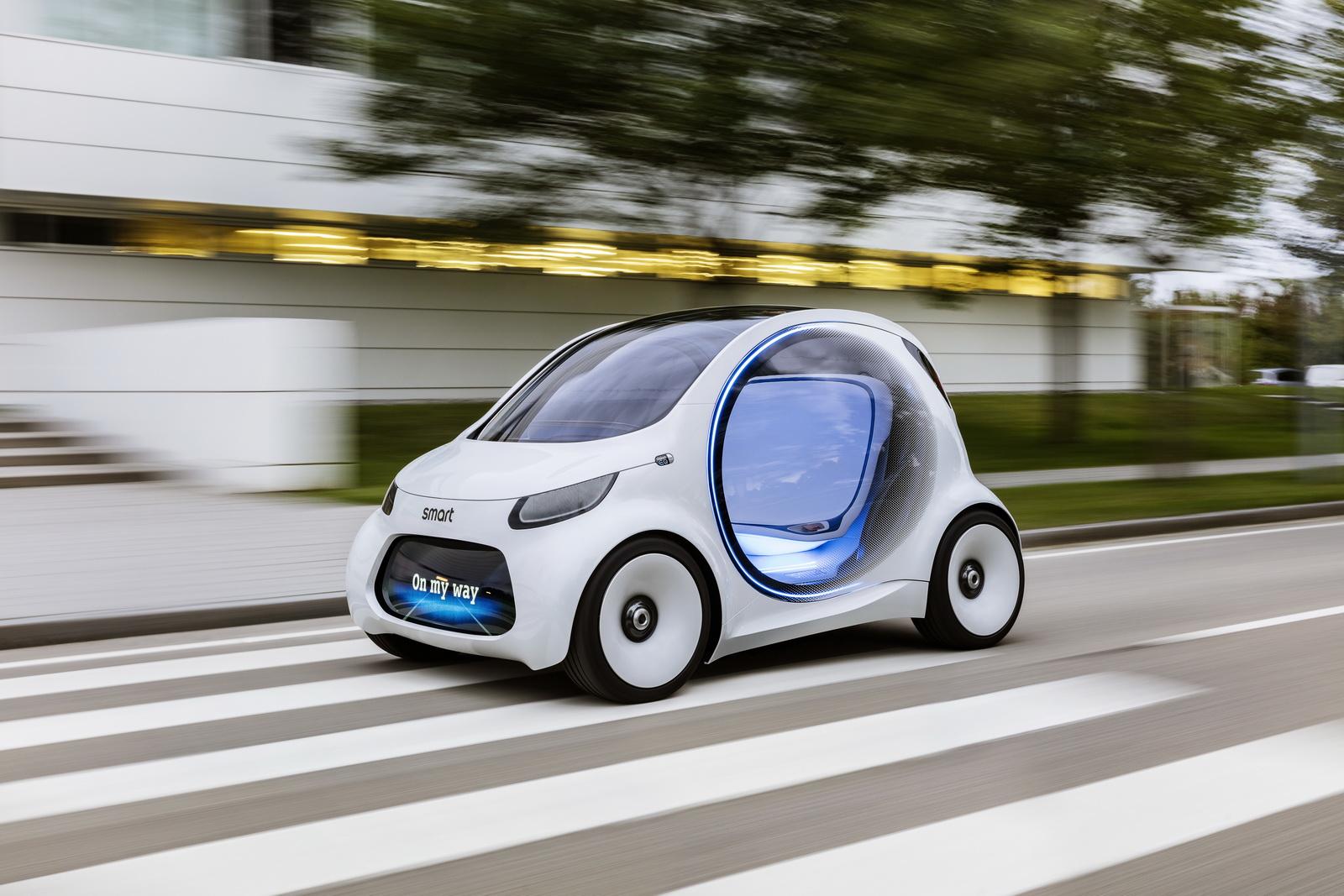 El Smart del futuro es 100% eléctrico, autónomo y compartido