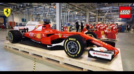 Así se construye un Ferrari F1 con 350.000 piezas de Lego
