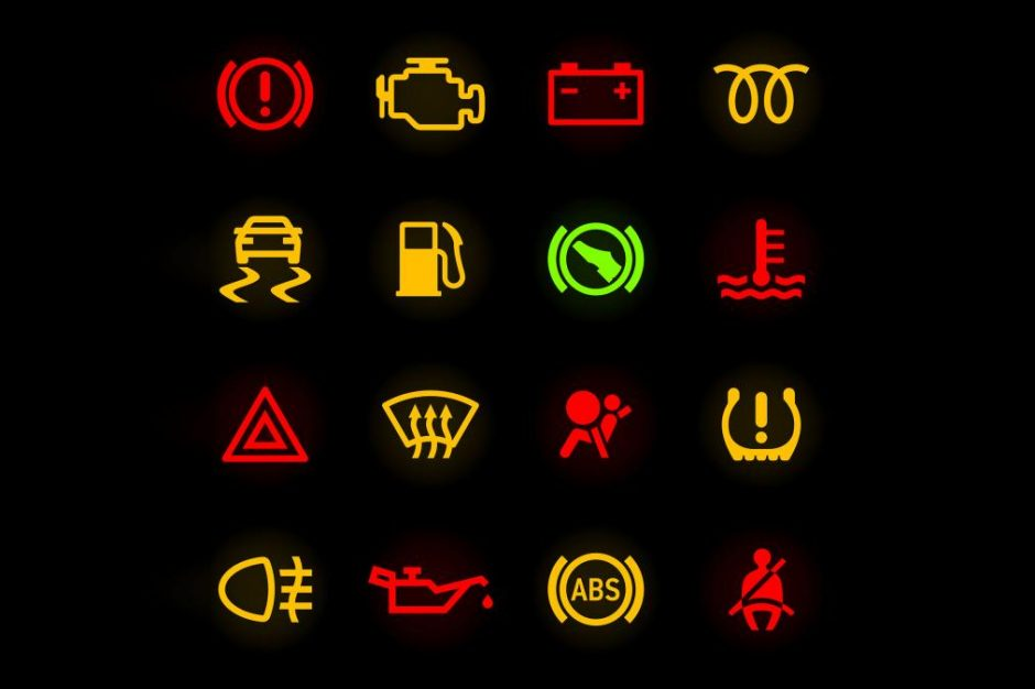 Dashboard Warning Lights Cropped X