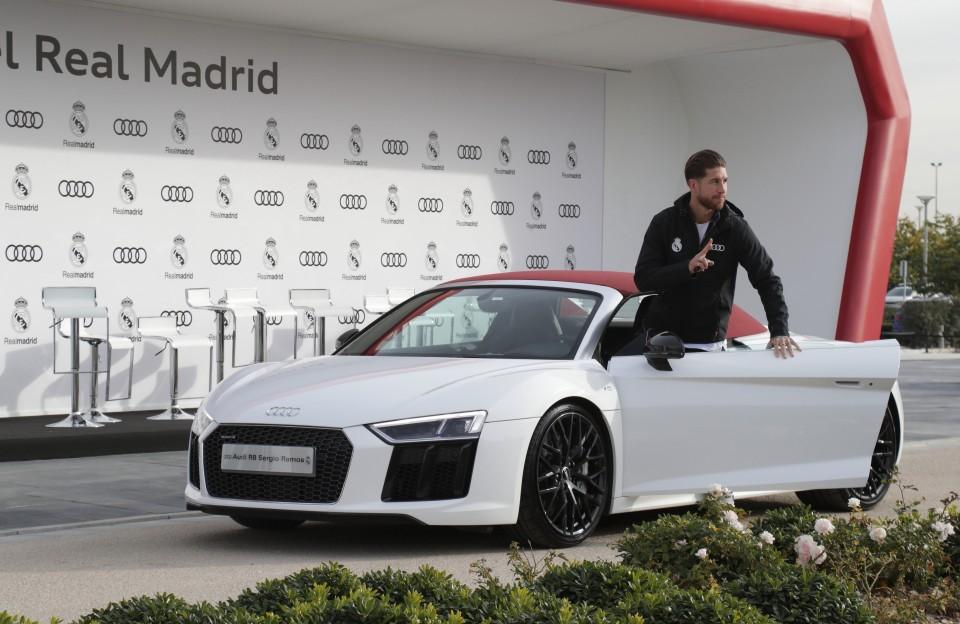 Los jugadores del Real Madrid renuevan sus Audi