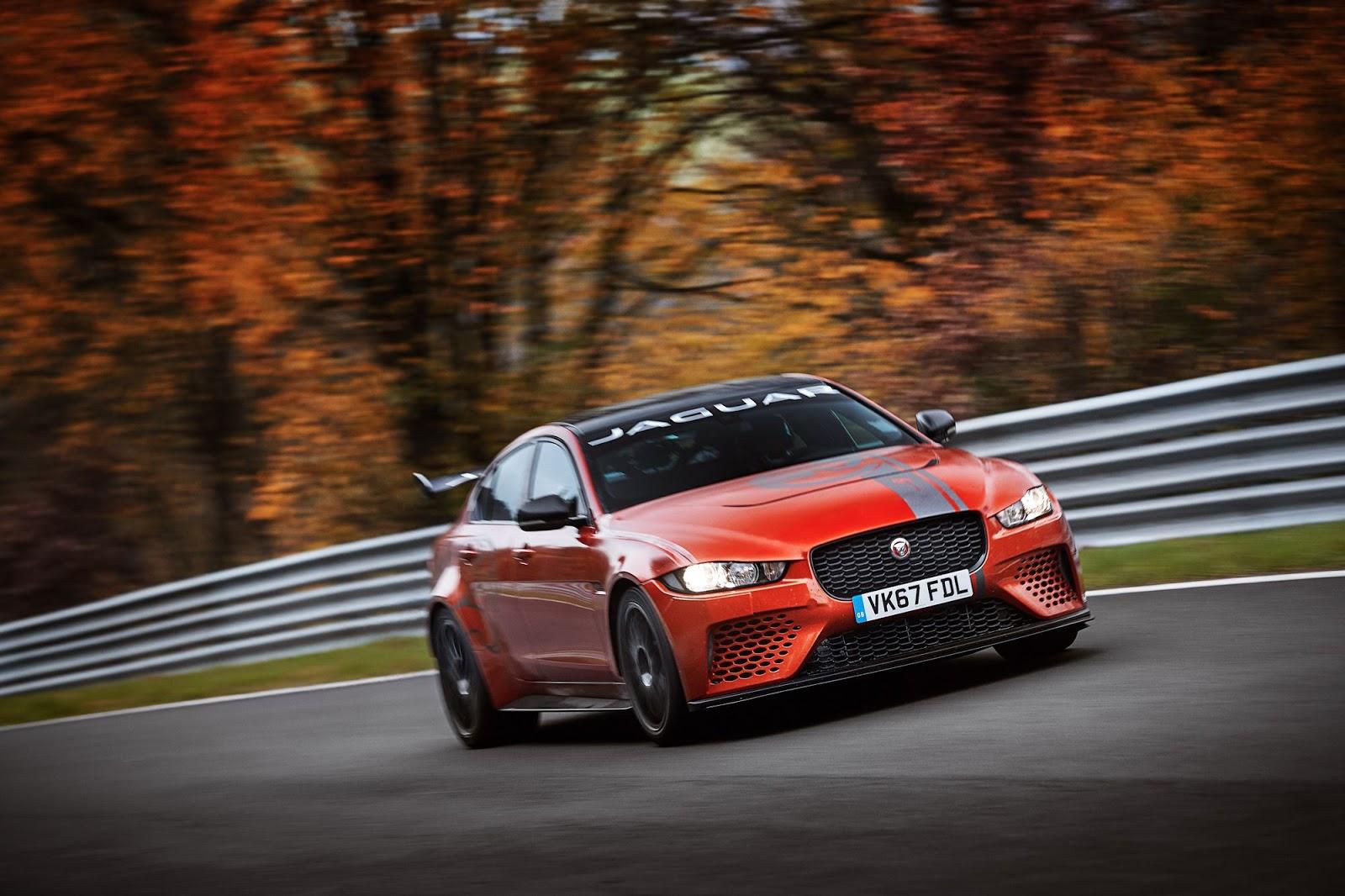 El Jaguar XE SV Project 8 es el sedán más rápido en Nürburgring