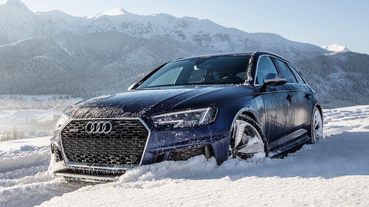El Audi RS4 Avant es una auténtica máquina quitanieves