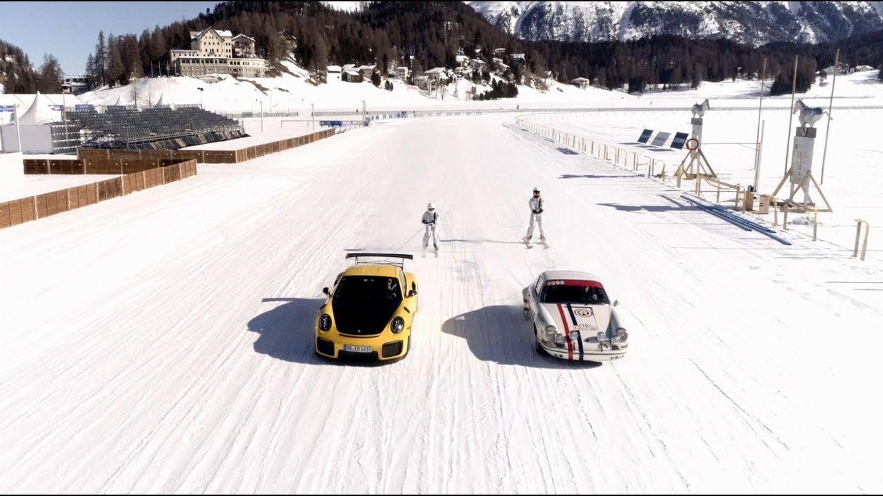 Duelo entre generaciones de Porsche 911 sobre el hielo