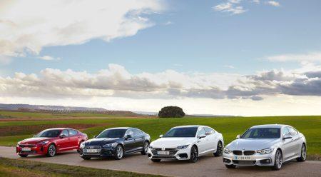 Cuatro berlinas con aire cupé: poderío y calidad con ventaja para el VW Arteon