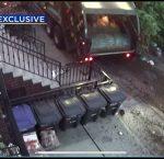 Un camión de la basura arrasa con nueve coches