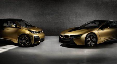 Estos dos BMW tienen pintura de oro de serie