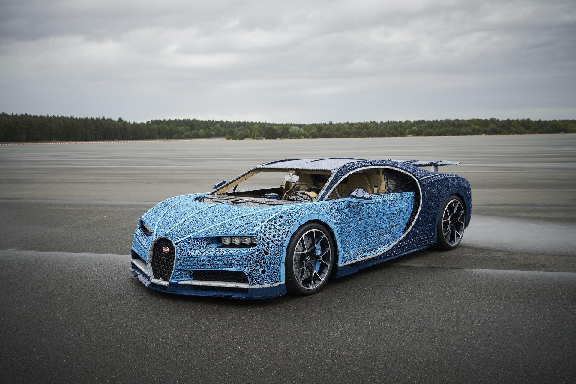 El Bugatti Chiron de Lego de tamaño real que alcanza los 20 km/h
