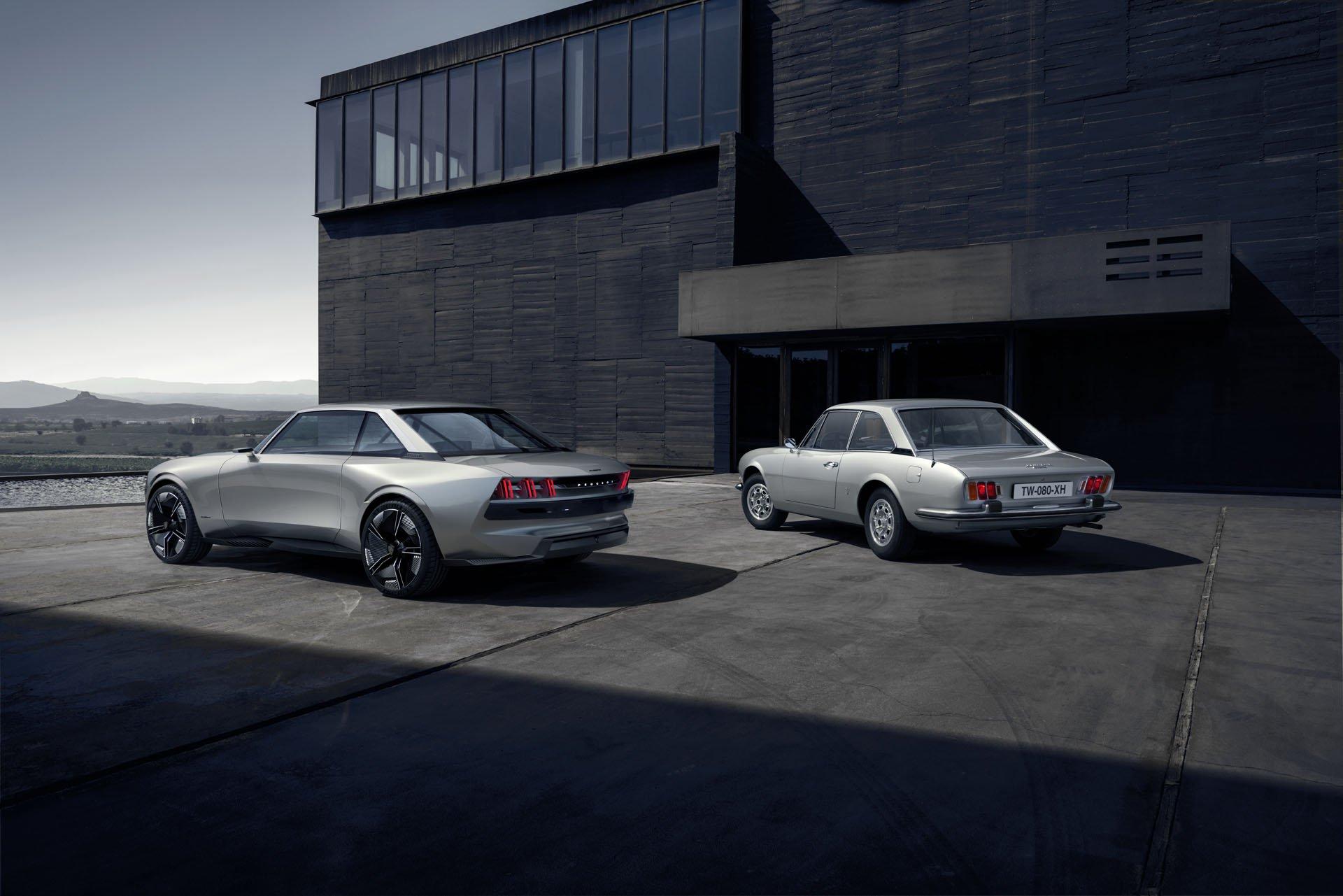 El Peugeot e-Legend Concept desde todos los ángulos