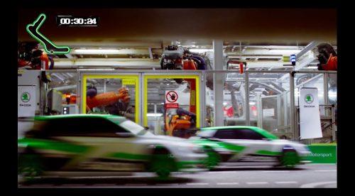 La vuelta más rápida a la fábrica de Skoda… ¡en coche de radiocontrol!