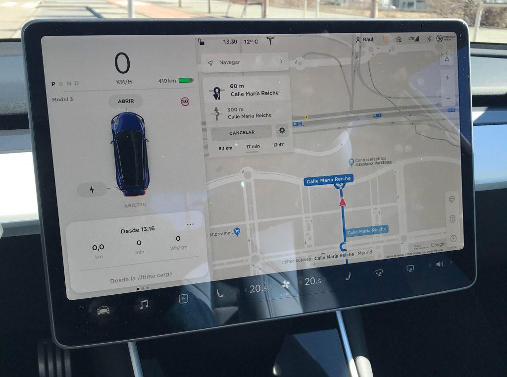 Pantalla Tesla