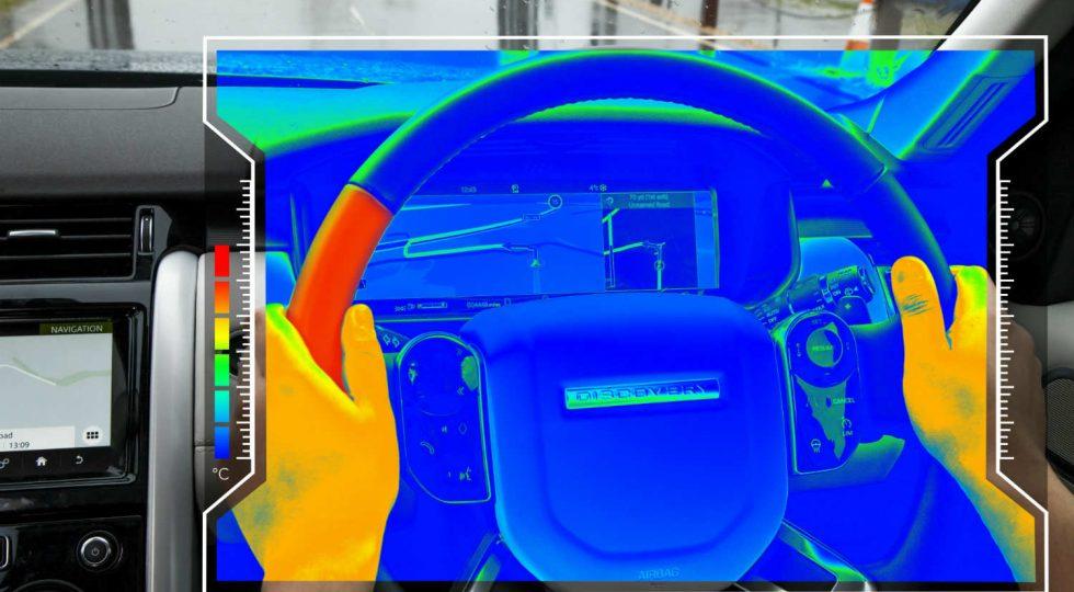 Jaguar sensory stering wheel'