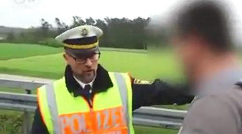 El policía alemán que abronca a los conductores en la carretera