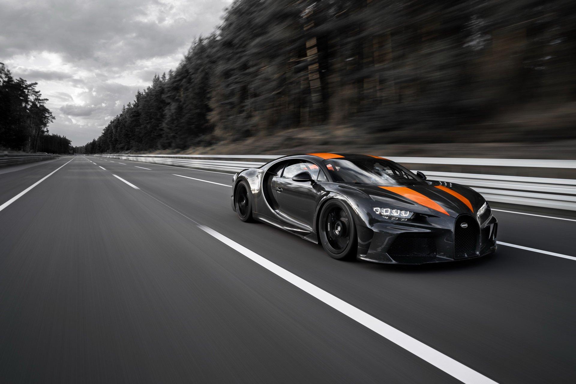 Las imágenes del récord de velocidad del Bugatti Chiron