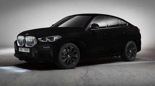 Este BMW X6 es el coche más oscuro del mundo