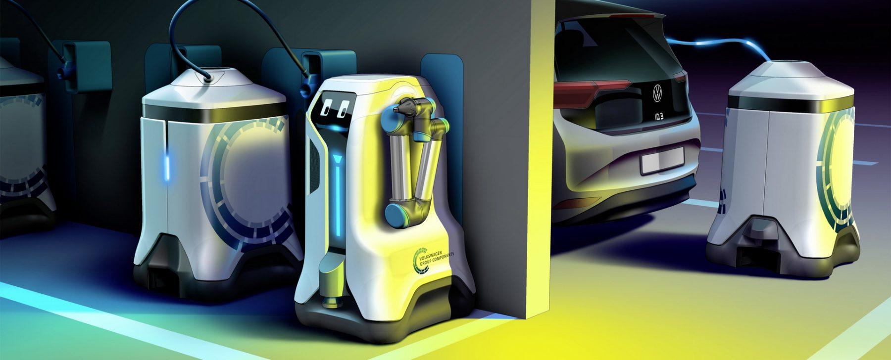 robots para cargar coches eléctricos