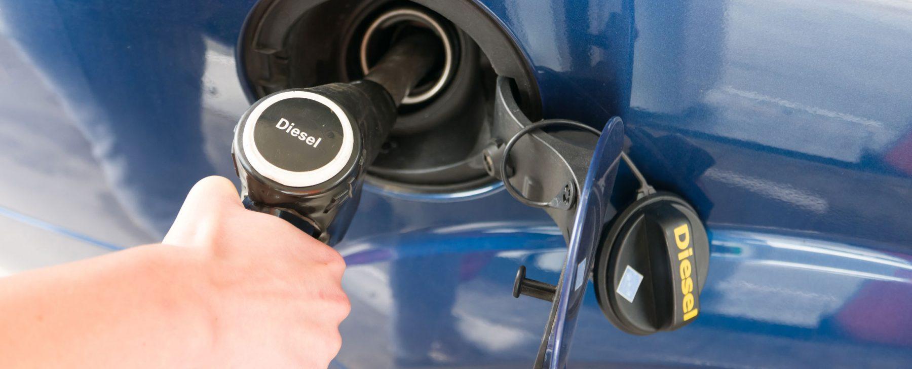 Coche diesel parado