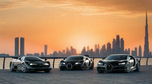 Bugatti repasa su historia moderna con tres modelos icónicos