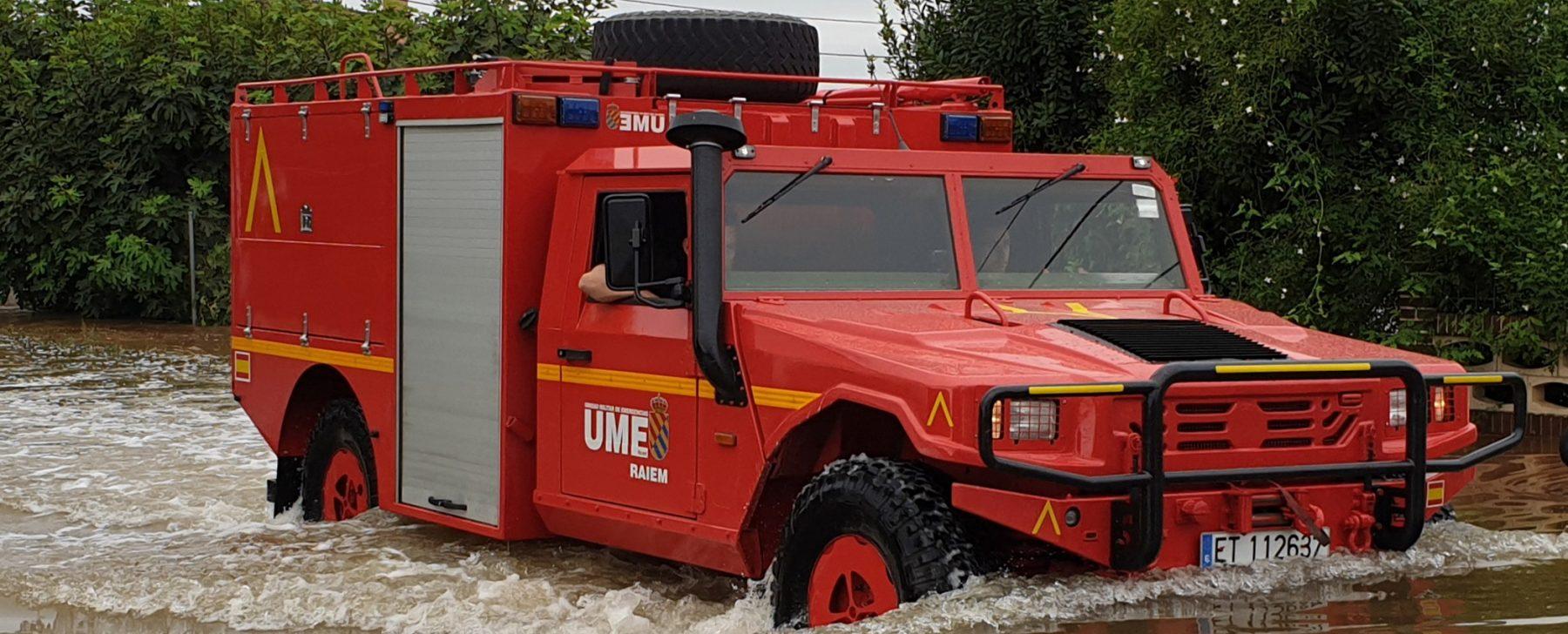 Los vehículos que la UME utiliza en su lucha contra el Covid-19