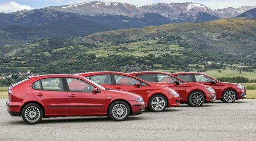 Las cuatro generaciones del Seat León, frente a frente