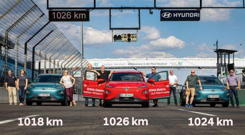 El Hyundai Kona eléctrico supera en circuito 1.000 kilómetros de autonomía