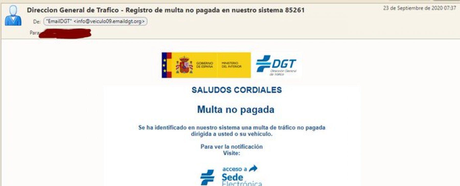 Aviso multas DGT por email