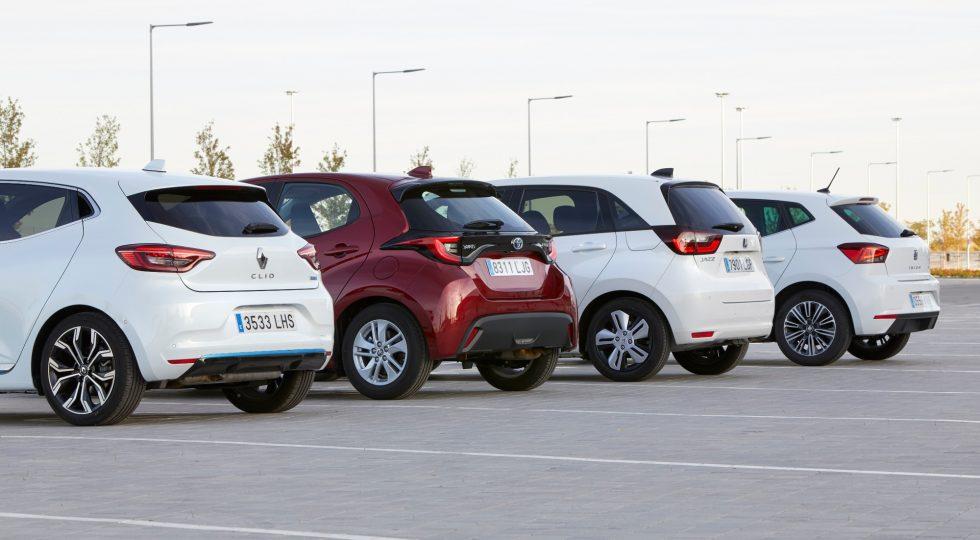 Seat Ibiza, Renault Clio, Toyota Yaris y Honda Jazz, en imágenes