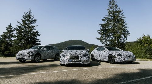 Mercedes muestra tres de su próximos eléctricos: EQS, EQE y EQS SUV
