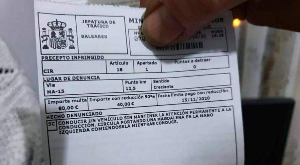 La multa por una magdalena y otras vaguedades del código de circulación