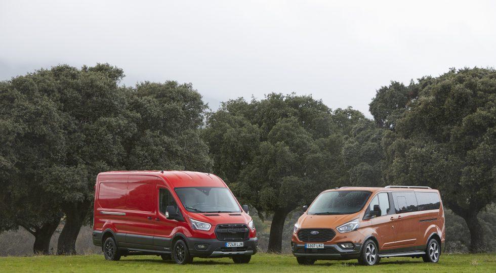 Las nuevas furgonetas con espíritu aventurero de Ford