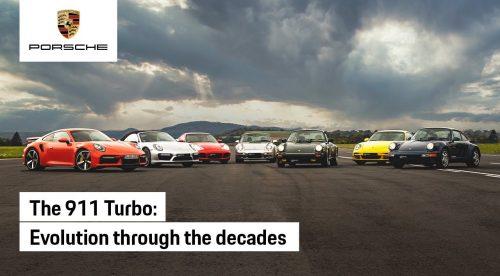 Todas las generaciones del Porsche 911 Turbo se enfrentan en una carrera