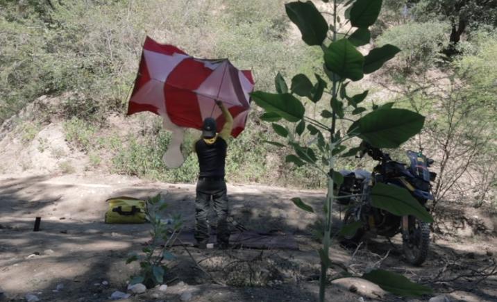 La felicidad de acampar en Taumalipas, México