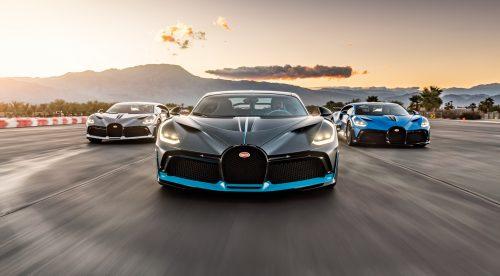 Tres Bugatti Divo comparten pista: 15 millones de euros sobre el asfalto