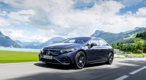 Al volante del Mercedes EQS, el coche y el eléctrico de los récords