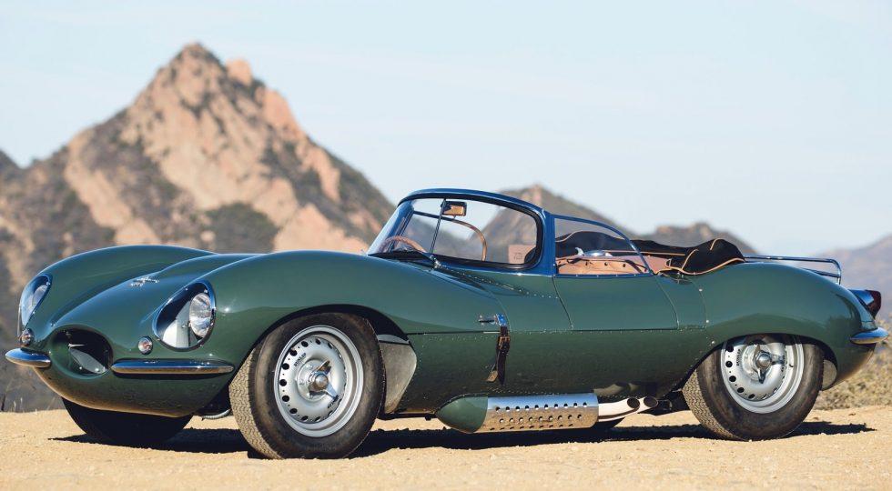 Jaguar XKSS de 1957, con el tradicional color verde británico.