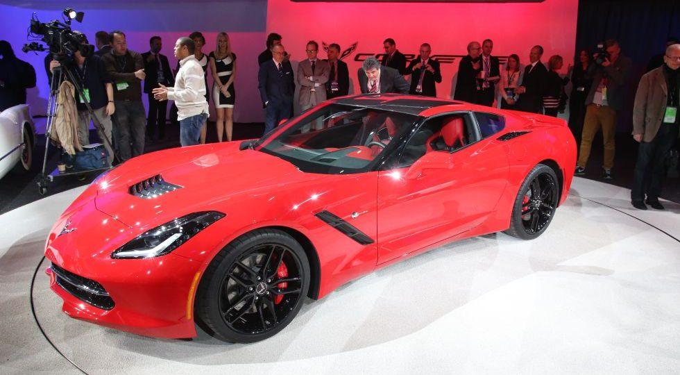 El Corvette se pasea por Detroit