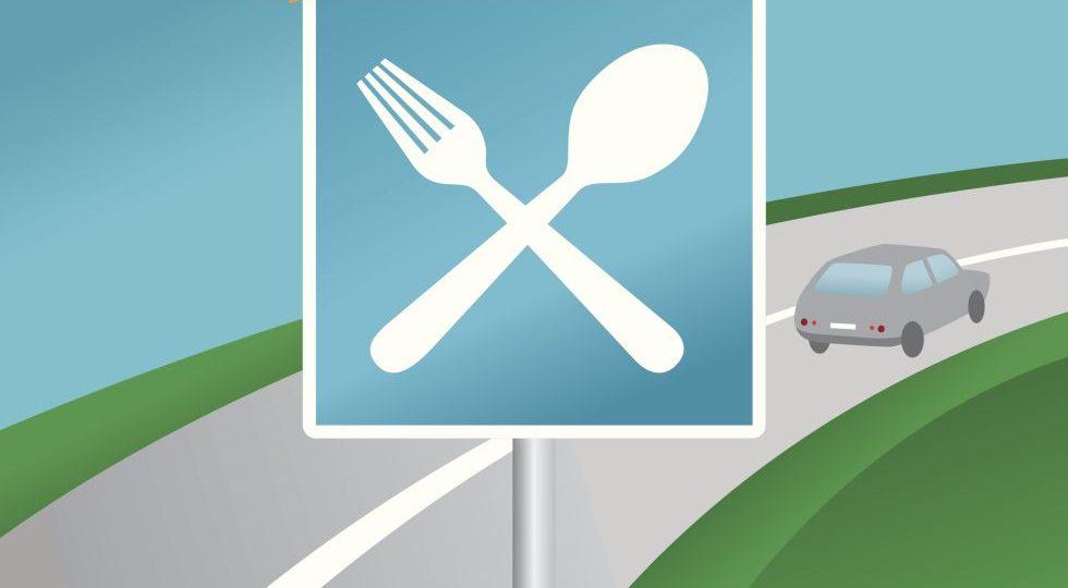Comer bien en la carretera