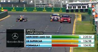 Red Bull F1 vs Vauxhall V8 Supercar vs Mercedes C63 AMG