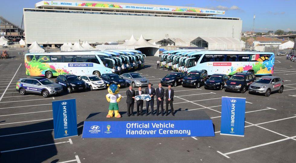 Hyundai entrega la flota del Mundial de Brasil 2014
