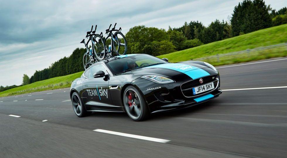 El Jaguar F-Type R Coupé del Tour de Francia