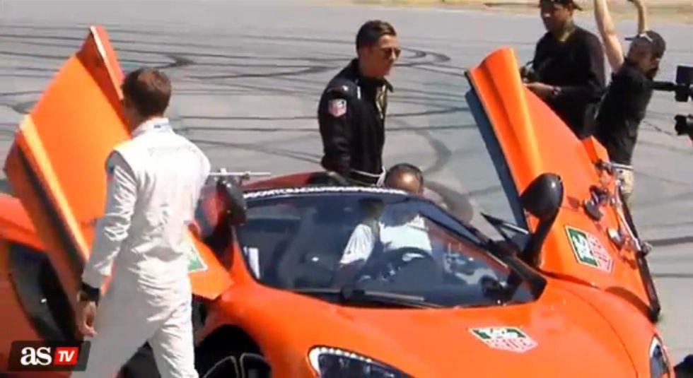 Ronaldo disfrutó con un 650S en el Circuito del Jarama