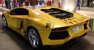 Tunea en homenaje al Madrid su impresionante Lamborghini