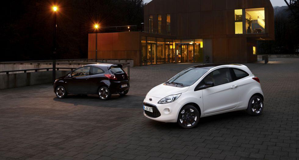 Los Ford Ka y Fiesta, ahora en blanco y negro
